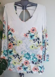 O'neill flowy floral tunic length top